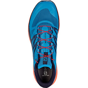 Salomon Sense Ride Shoes Men fjord blue/cherry tomato/navy blaze